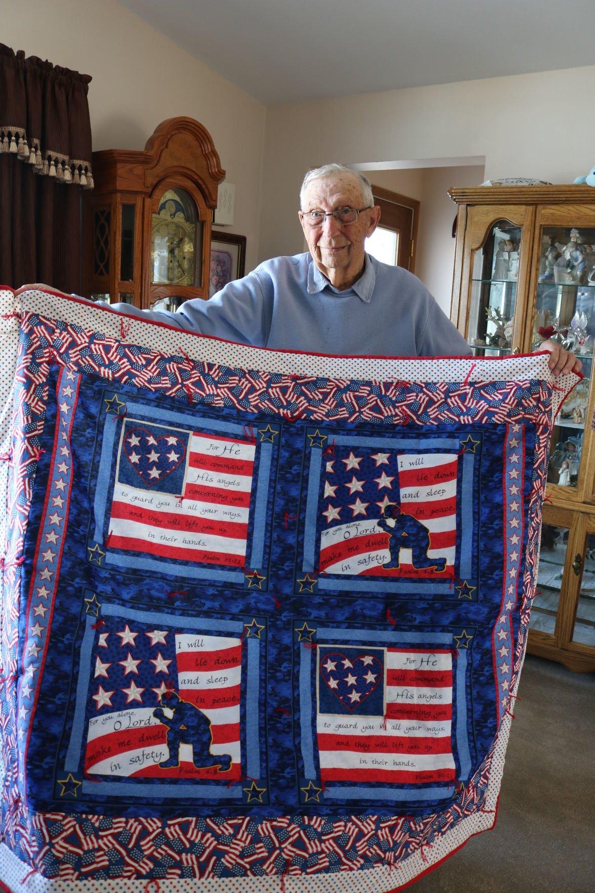 Veteran receives quilt of honor in Britt community