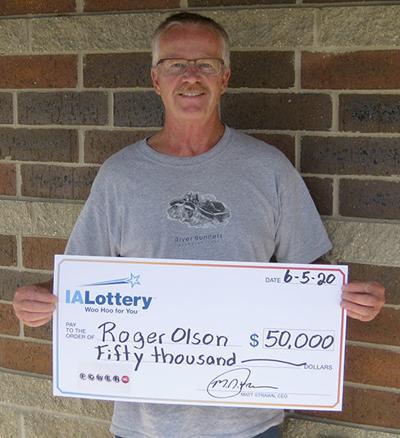 Roger Olson 50k Powerball Prize