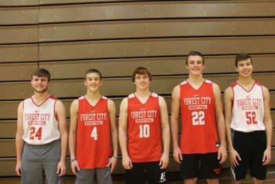 Forest City High School boys basketball seniors