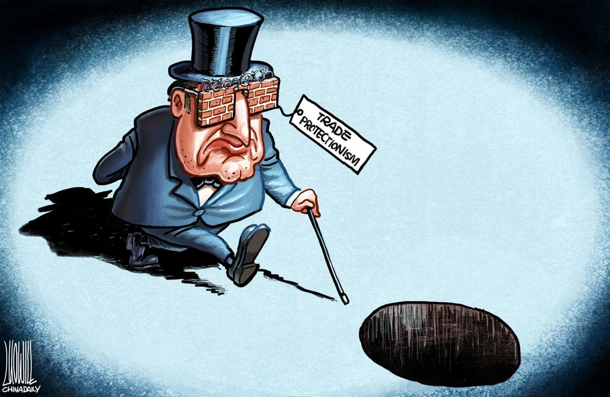 Trade protectionism by Luojie, China Daily, China