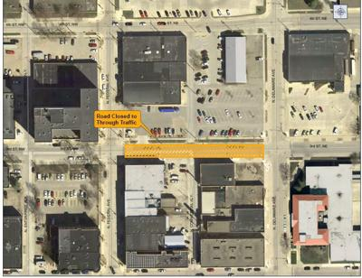 Downtown Mason City construction plan