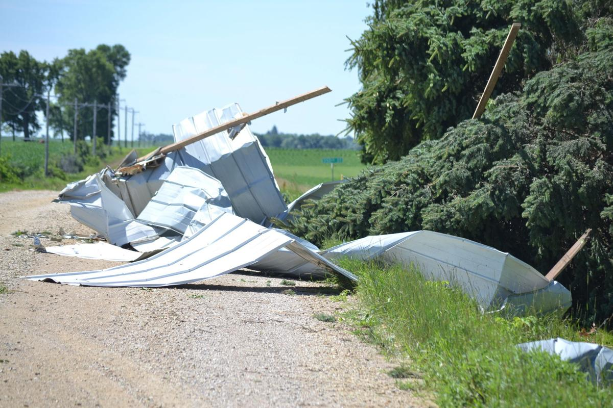 storm rips osage grain silo off its foundation mason city north