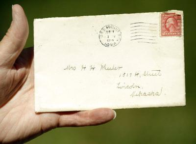Century old letter postmarked in Iowa appears in mail carrier's