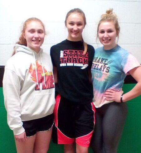 Senior girls BB players