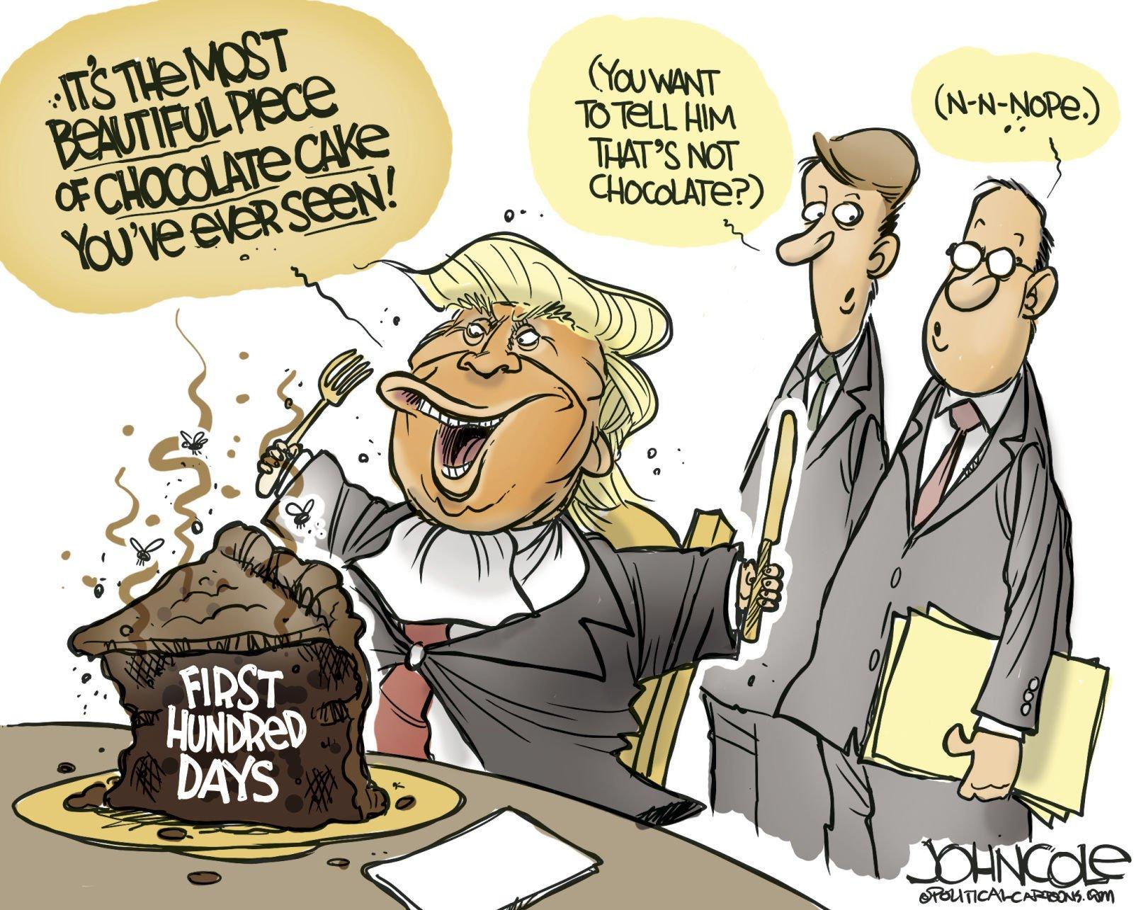 Chocolate cake by John Cole PoliticalCartoons.com  sc 1 st  Globe Gazette & Political cartoons: 100 days prom taxes Russia France | Column ... memphite.com