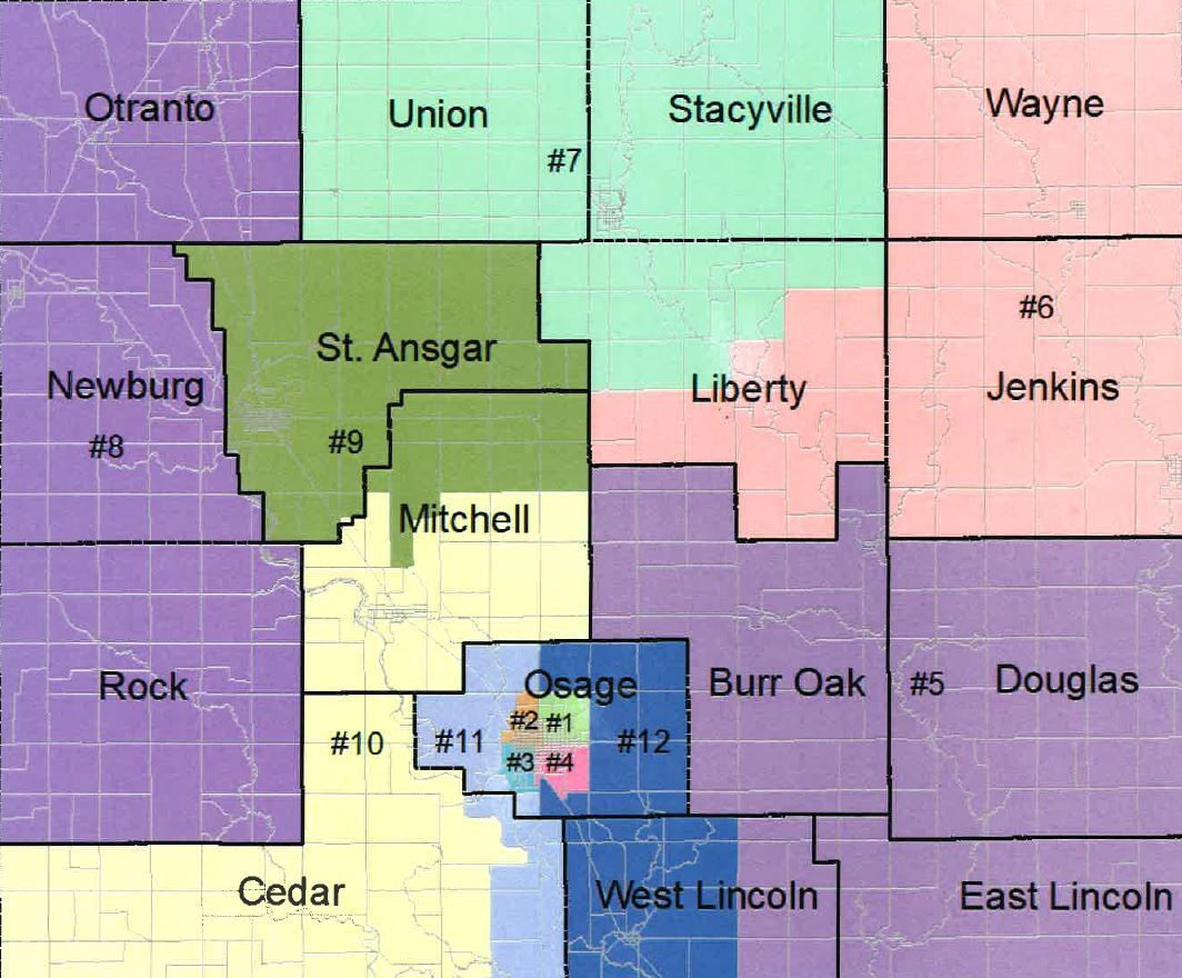 Proposed voter districts in Mitchell County