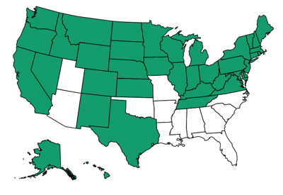 States that have ratified the ERA