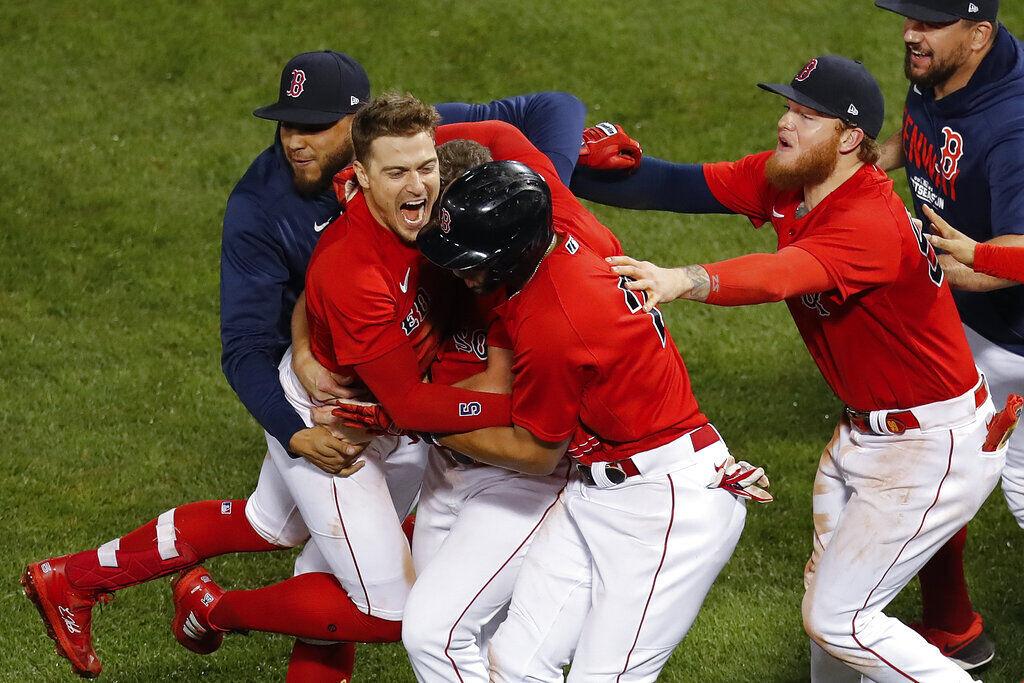APTOPIX ALDS Rays Red Sox Baseball