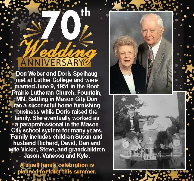 Happy Anniversary Don and Doris Weber