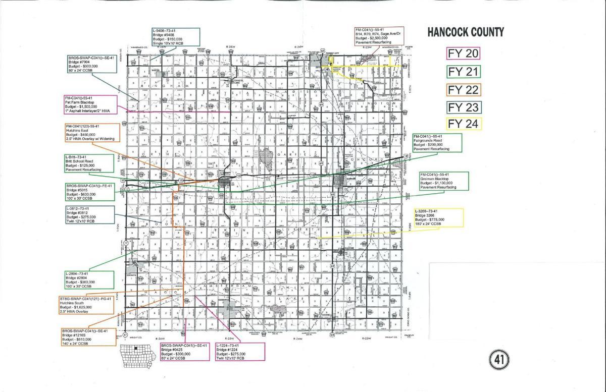 Hancock County's five-year construction plan
