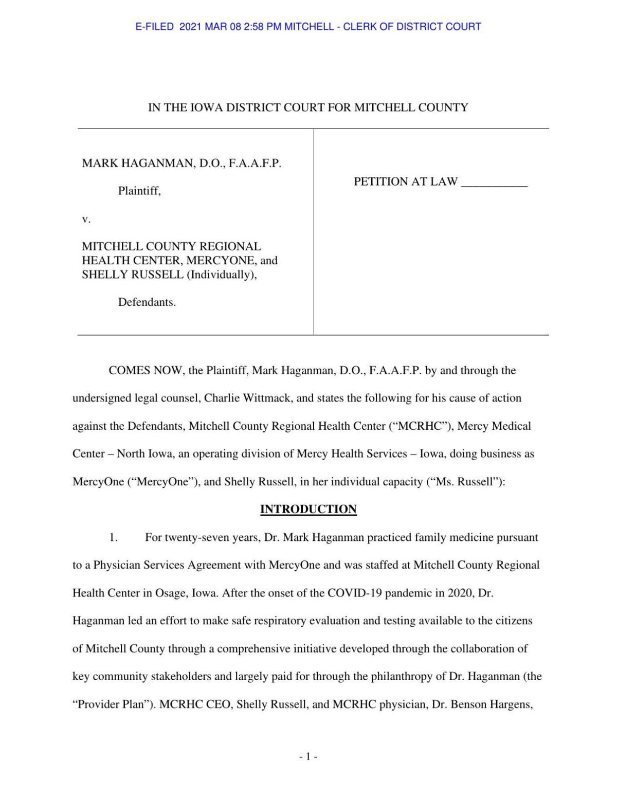 Haganman lawsuit