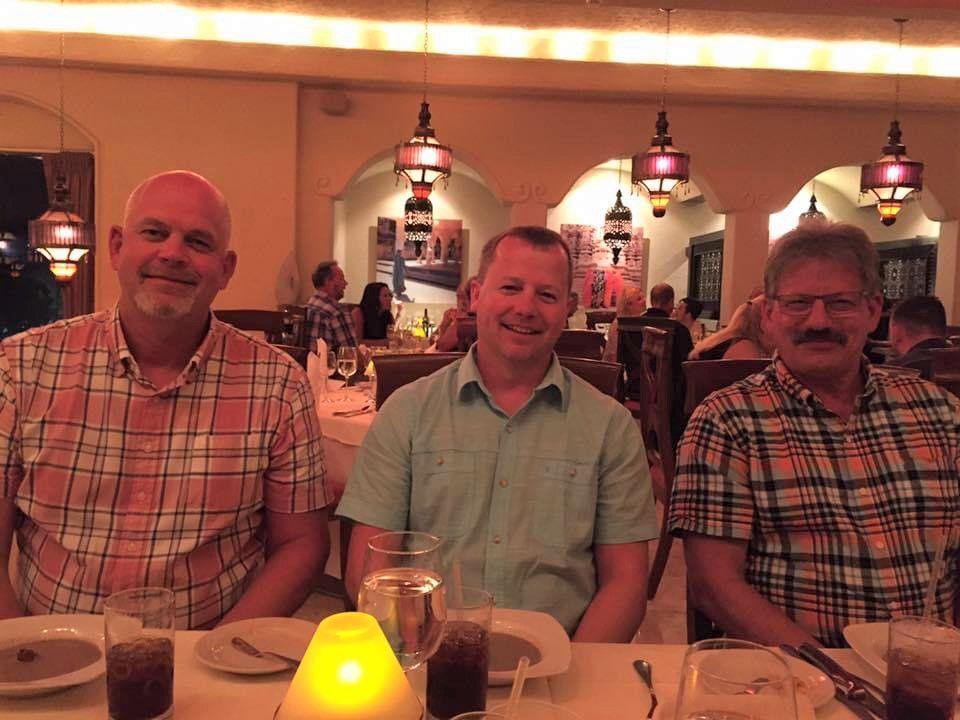 Jon West with friends