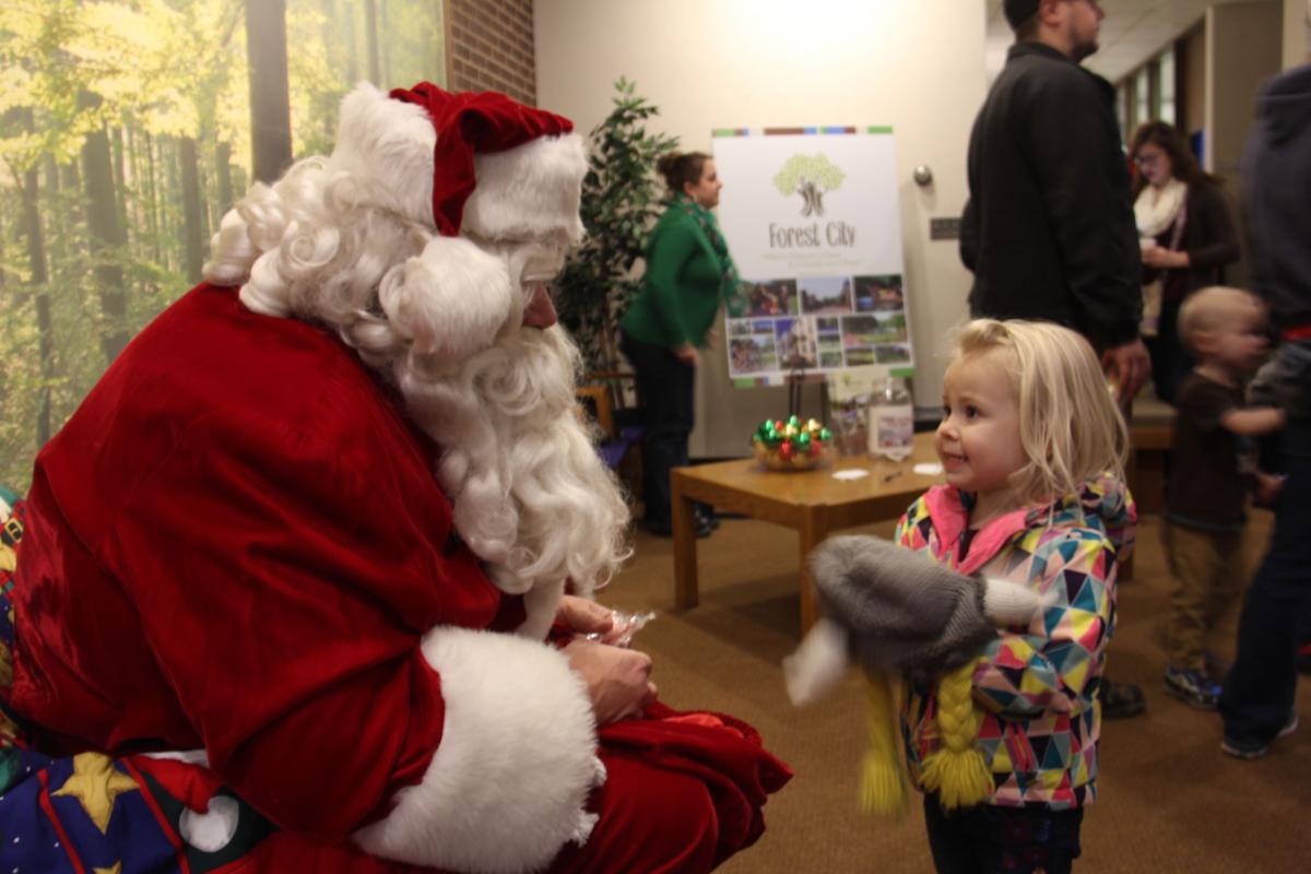 Cassidy with Santa