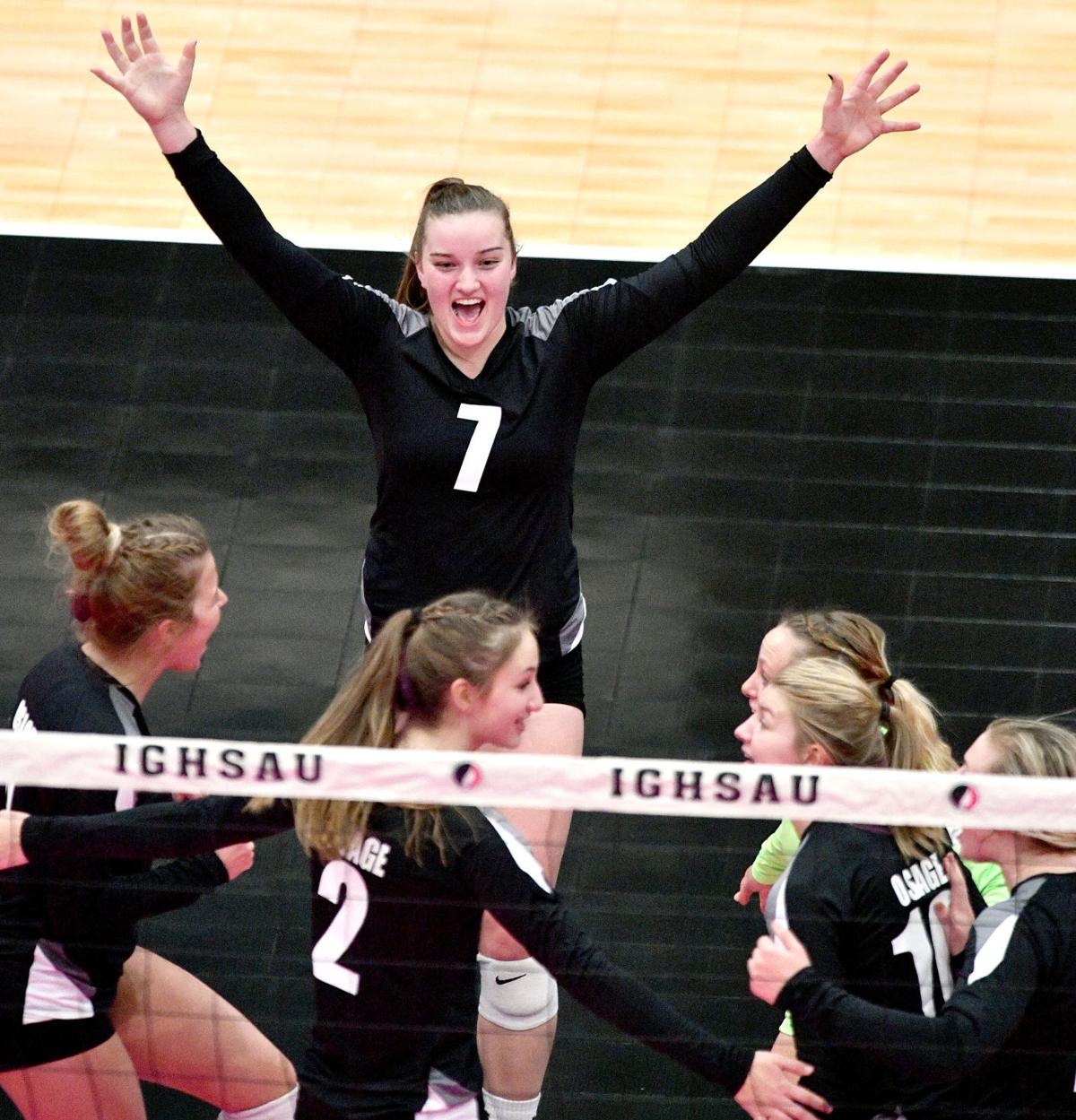 Osage vs Tipton state volleyball 1