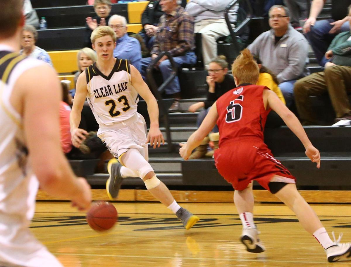 Clear Lake vs. New Hampton boys basketball, Jan. 8