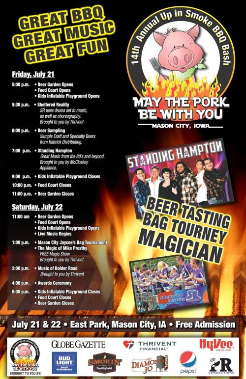 2017 Up in Smoke BBQ Bash schedule