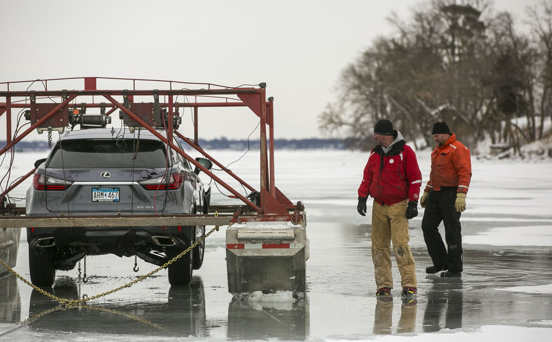 Ice, Ice, Baby: Spirit Lake Crew Fishes Lexus From Clear Lake (with Video,  Photos)