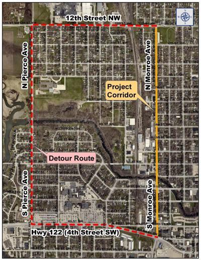 Monroe Avenue detour