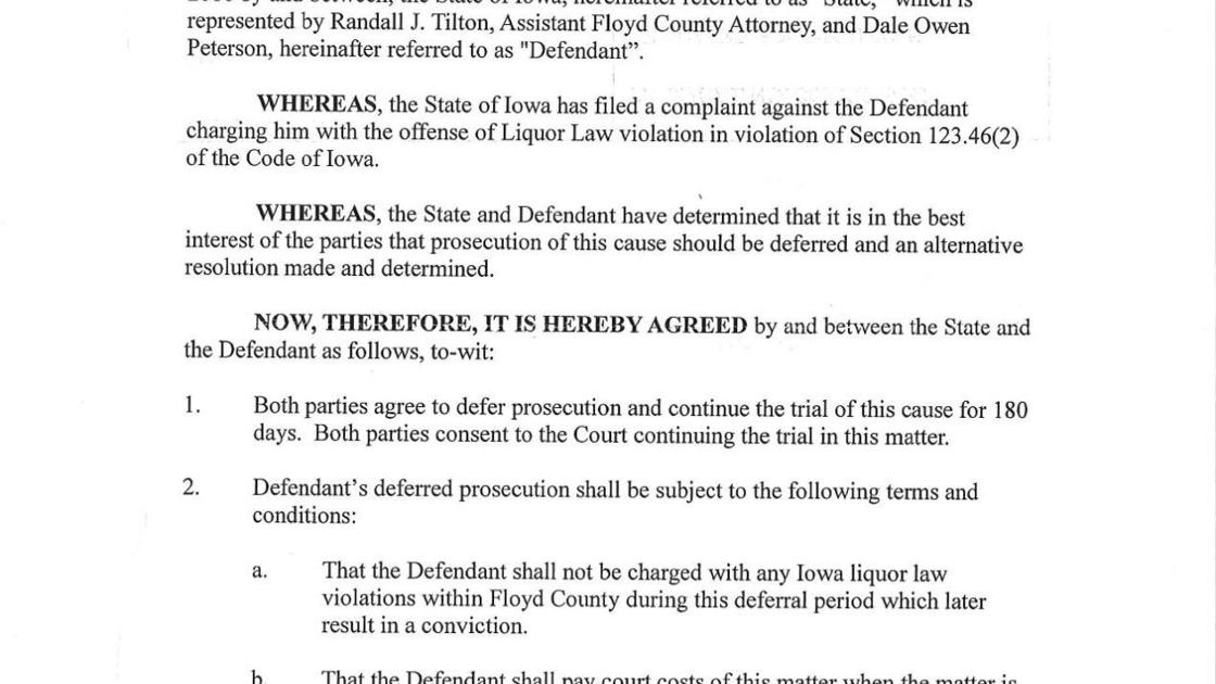 Click Here To Read Petersons Deferred Prosecution Agreement