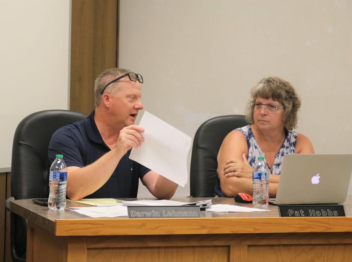 Forest City Superintendent Darwin Lehmann, Pat Hobbs