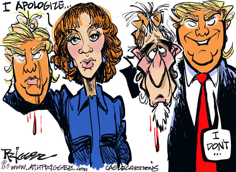 Kathy Griffin by Milt Priggee, miltpriggee.com
