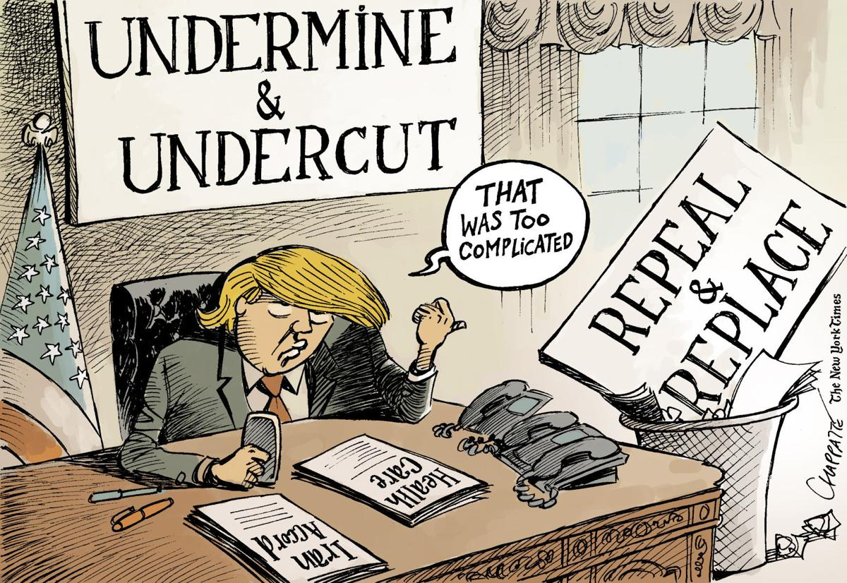 Trump's executive orders by Patrick Chappatte, The International New York Times