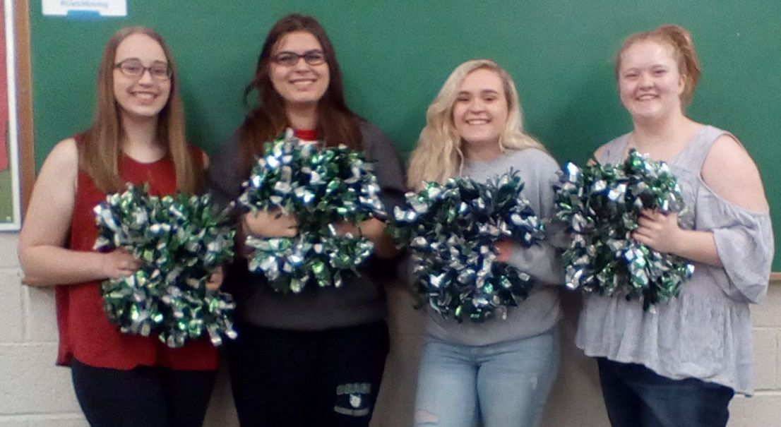 OHS Senior Basketball Cheerleaders