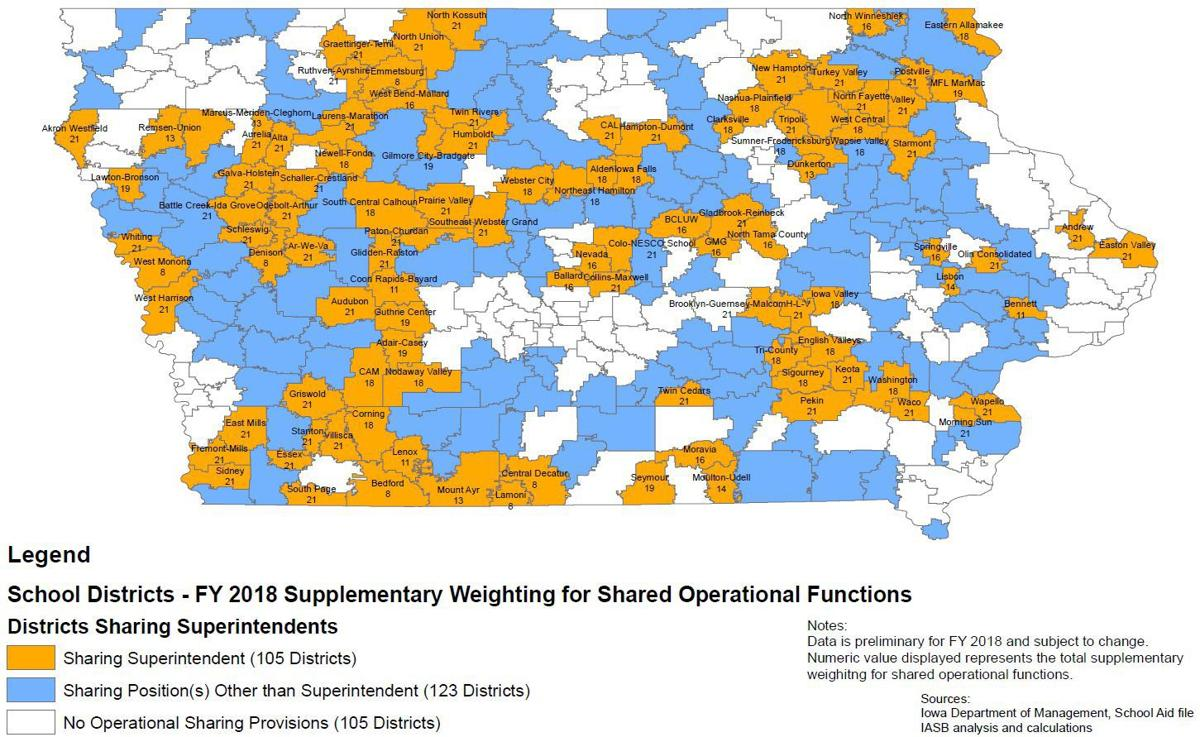 More Iowa school districts sharing superintendents to save ...