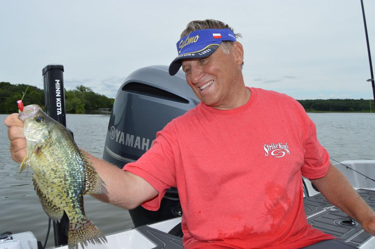 Crappie on the line