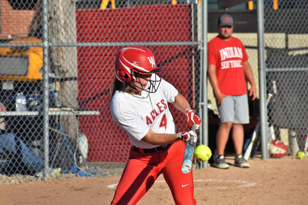 WH softball-Shelby Goepel bunt