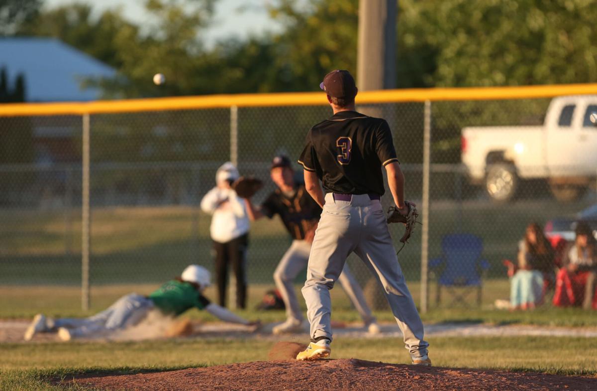 Lake Mills vs Osage baseball - Ramaker 2