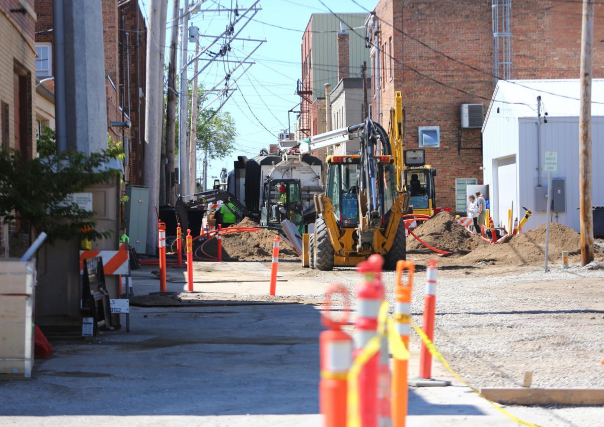 Road closure utility work