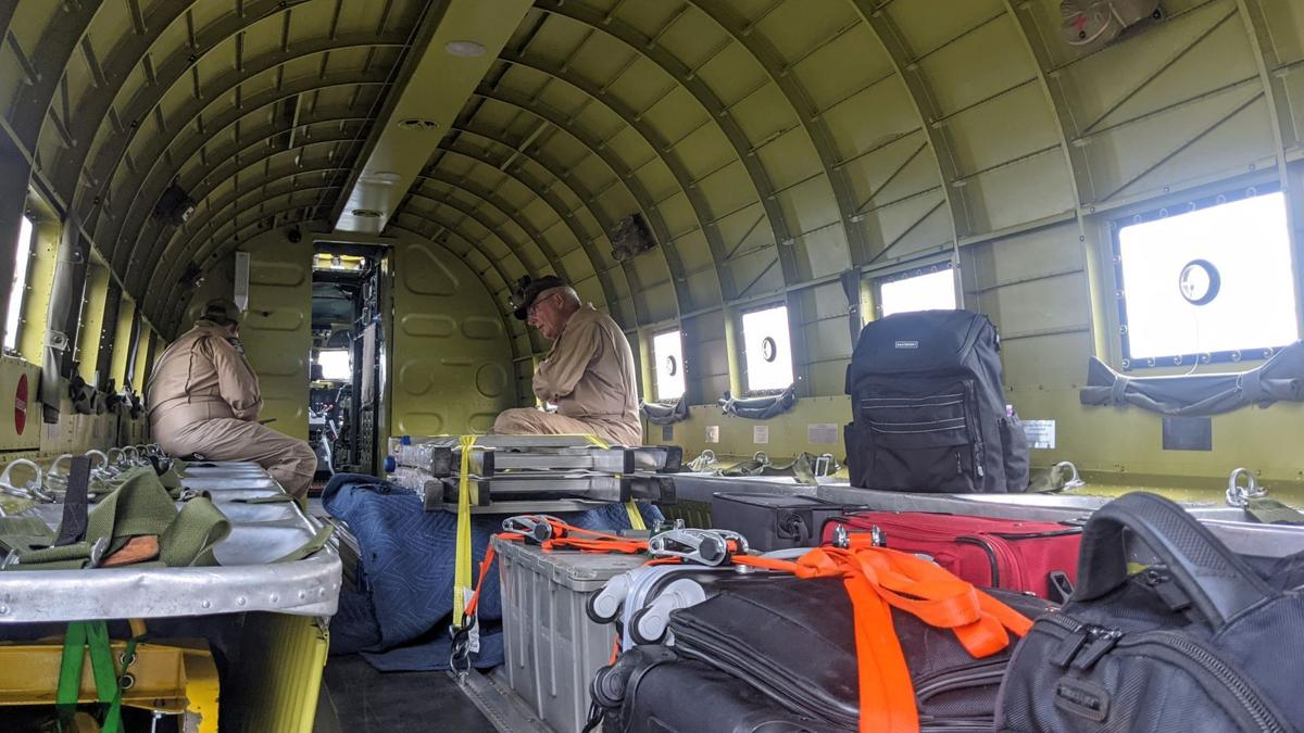 """WWII plane """"That's All, Brother"""" lands in Mason City - interior"""