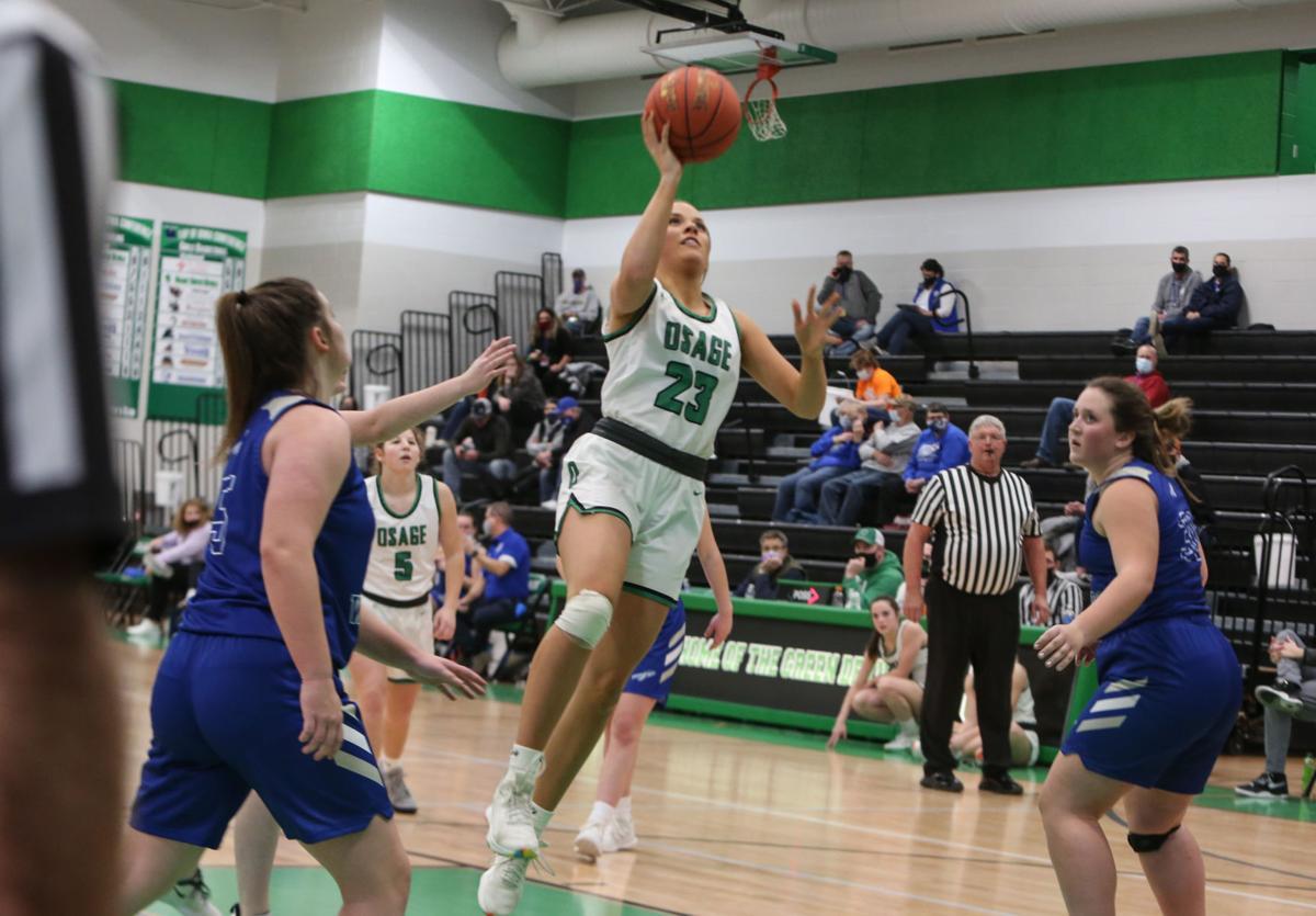 Osage girls basketball vs. Rockford - Bobinet