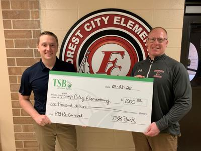 TSB donation to Forest City Elementary