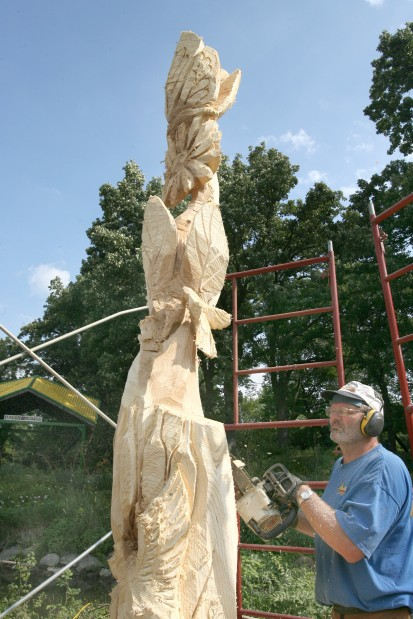 East park duck island tree becomes sculpture salute