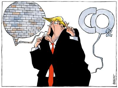 Trump wall and climate by Michael Kountouris, Greece