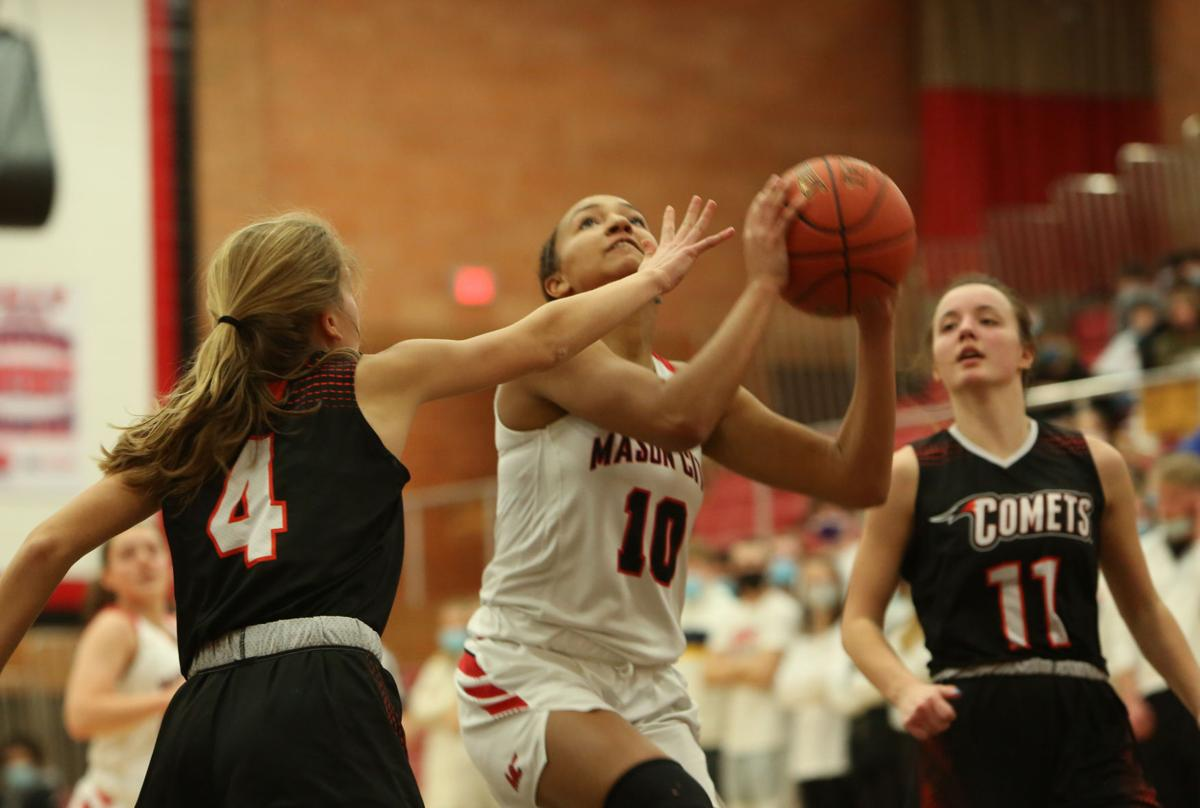 Mason City girls basketball vs Charles City - Williams