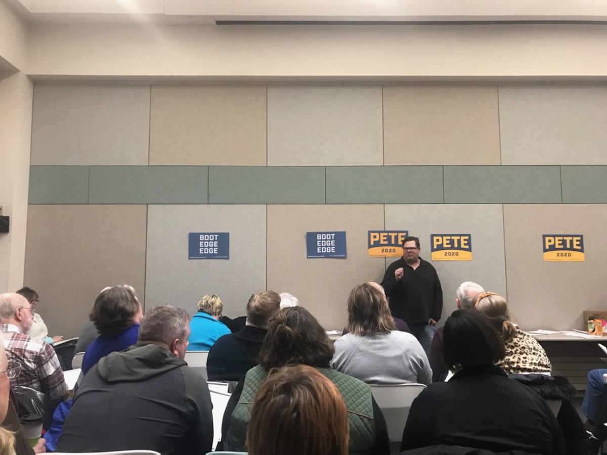 Pete Buttigieg caucus 102 program
