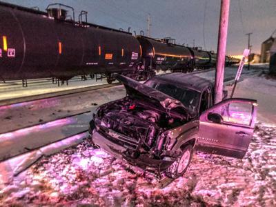 Truck v train Clear Lake