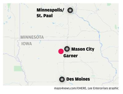 Garner Iowa Map.Commutes Garner Globegazette Com