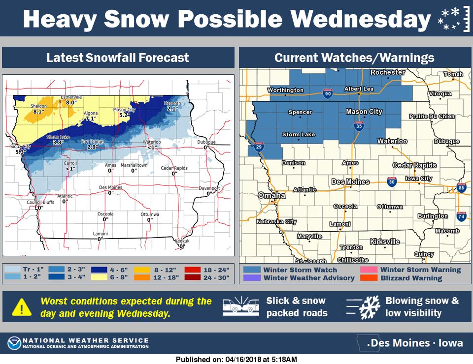 Wednesday snow