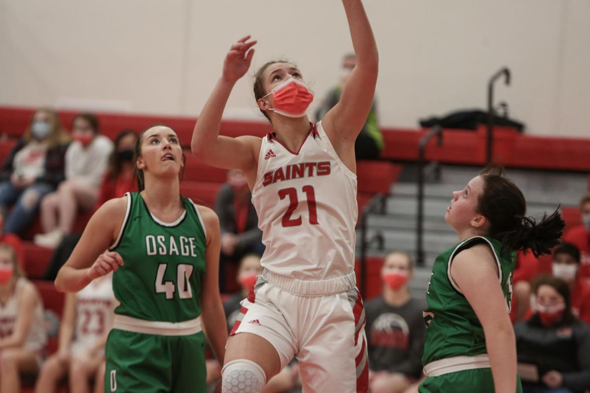 St. Ansgar girls basketball vs Osage - Hackbart