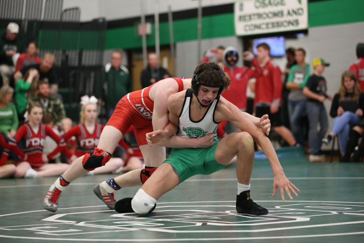 Osage, Forest City, Clarion and New Hampton wrestling, Dec. 22, 2017