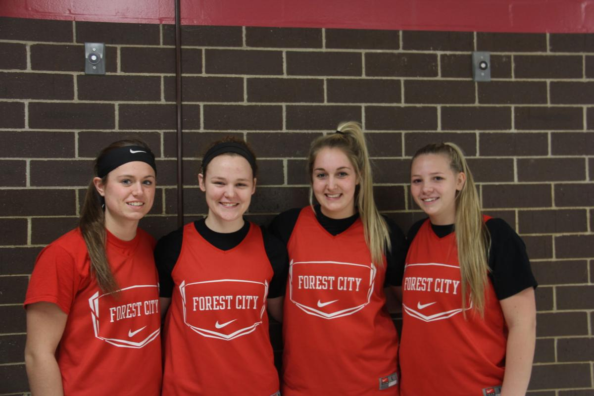 Forest City Girls Basketball seniors