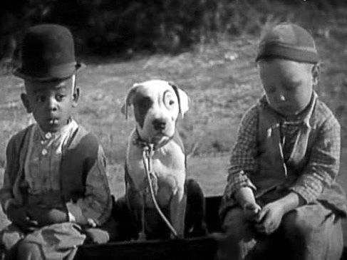 Matthew Beard, Pete the Pup, and Bobby Hutchins in the Our Gang comedy School's Out