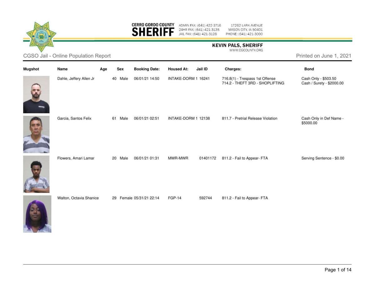 6-1 Cerro Gordo County jail inmates