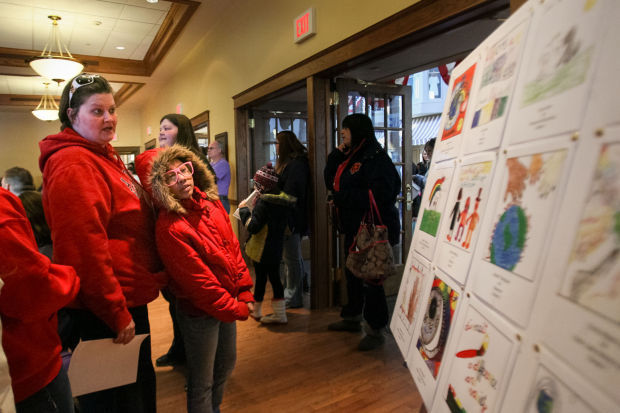 Students presented diversity contest awards