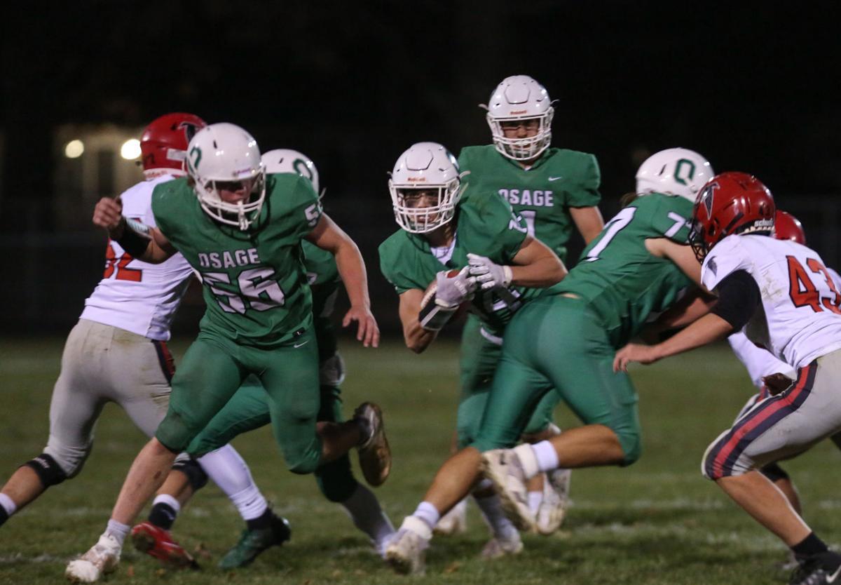 Osage football vs Aplington-Parkersburg - Jeffries, Mooberry