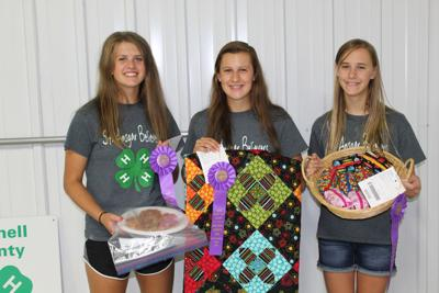Three 4-H members from St. Ansgar